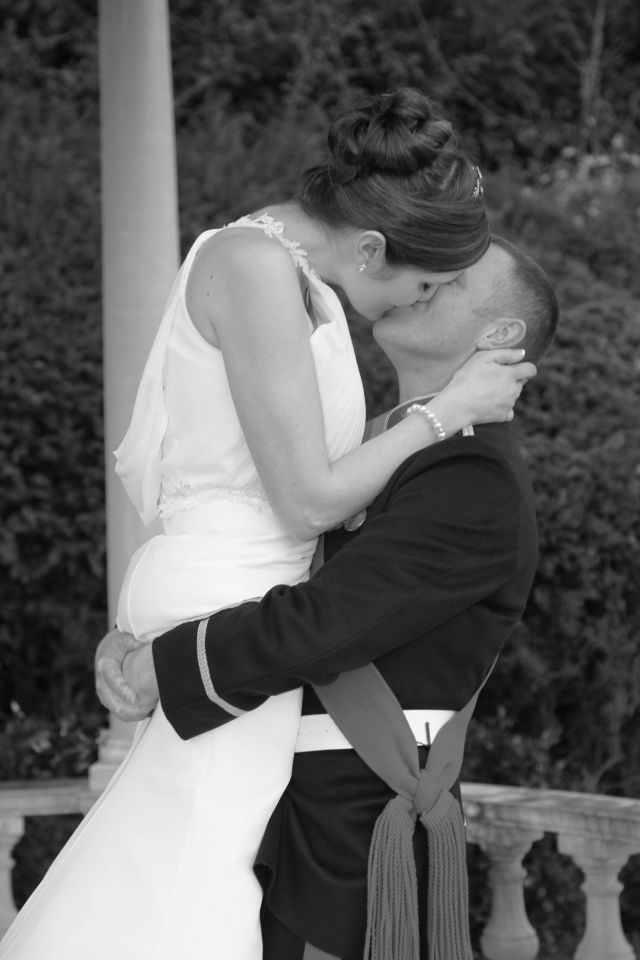 Image showing bride and groom kissing at Rhinefield House Hotel